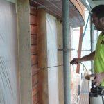 De Wood Protect toepassen met een nevelpomp