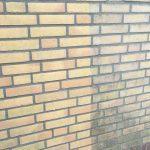 Stenen muur in combinatie met een vuilafstotende nanocoating