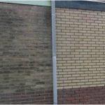Stenen muur behandeld met de Stone Concentraat